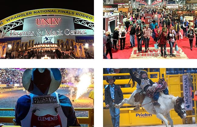 Las Vegas During the NFR
