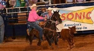 Bryson Sechrist takes tie-down roping